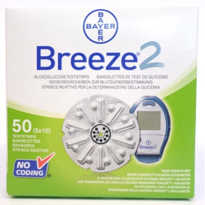bayer breeze 2 teststrips glucose diabetes