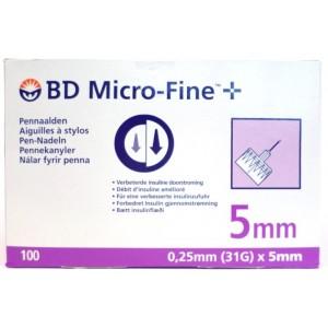 BD Mico-Fine 5 mm 100 Pennaalden