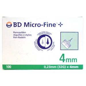 BD Micro-Fine 4 mm 100 Pennaalden