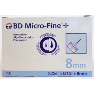 BD Micro-Fine 8 mm 100 Pennaalden