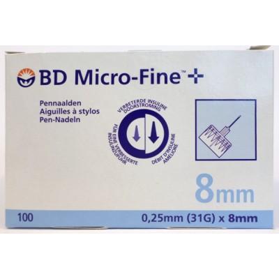 micro-fine 8mm pennaalden insuline